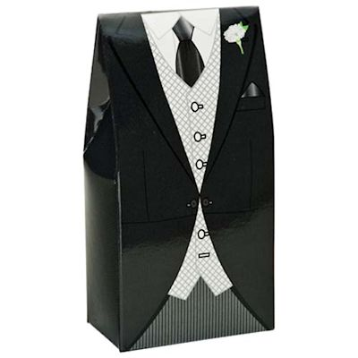 Black Morning Suit Wedding Favours