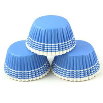 Blue Stripe Cupcake Cases