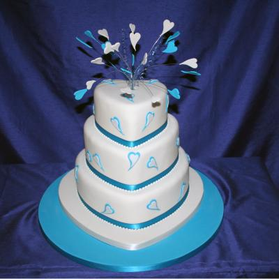 Blue Heart Wedding Cakes Heart Shaped Wedding Cake
