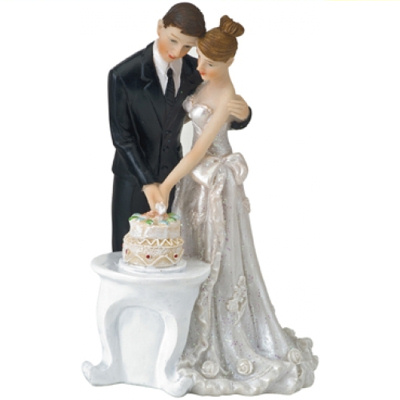 Cake Cutting Cake Topper Bride and Groom Cake Cutting Topper