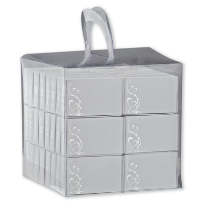 Silver Wedding Cake Boxes