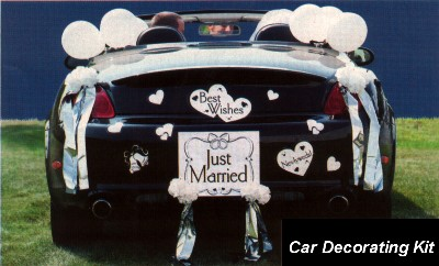 Wedding Car Decorating Kit Wedding Car Decorating Kit.