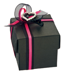 Black Silk Wedding Favour Boxes