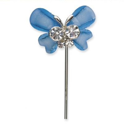Blue Diamante Favour Butterfly