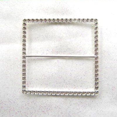 Square Diamante Effect Buckle