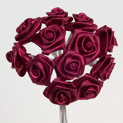 Burgundy Ribbon Roses