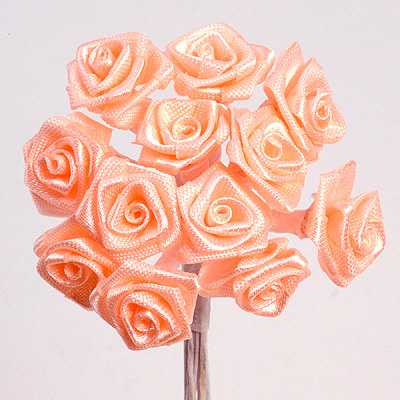 Peach Ribbon Roses