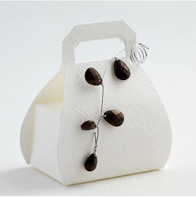 White Silk Handbag Favours
