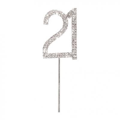 Diamante 21 Cake Topper