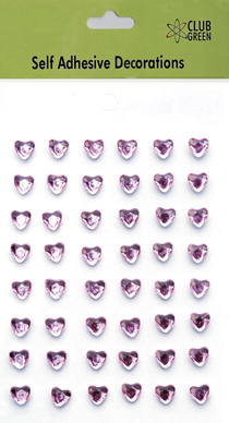 Self Adhesive Diamante Hearts