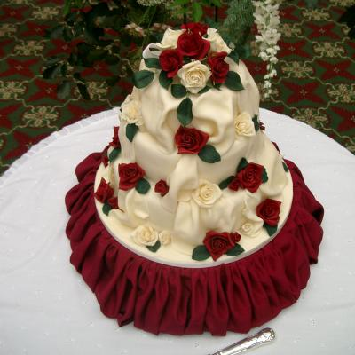 3 Tier Version displayed on a Bespoke Wedding Cake Stand
