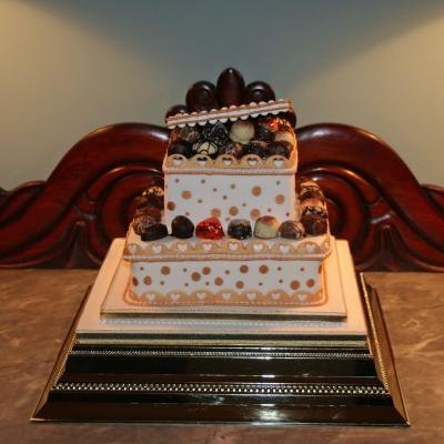 Chocolate Box Wedding Cake