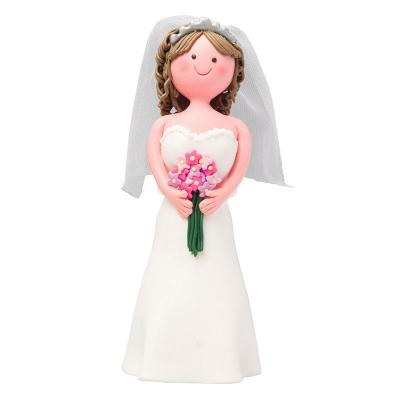 Claydough Brunette Bride
