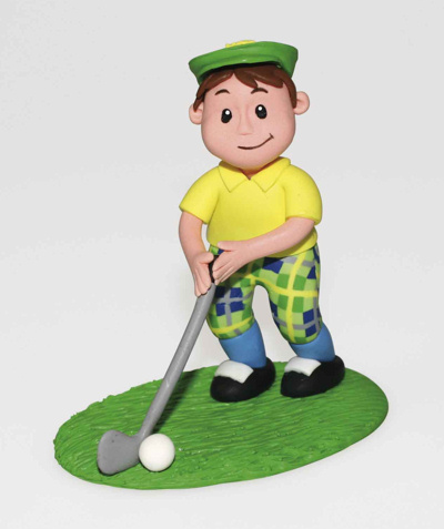 Claydough Golfer Cake Topper