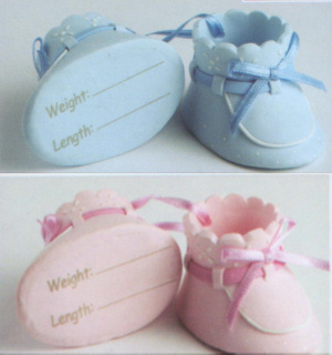 Claydough Blue and Pink Booties
