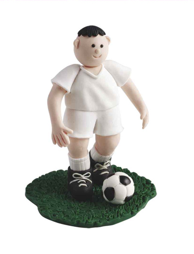 White Strip Football Cake Topper