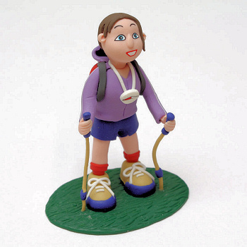 Claydough Lady Hiker