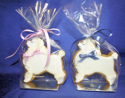 Poodle Cookies in presentation bags