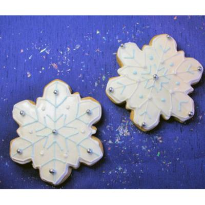 Snowflake Shaped Cookies