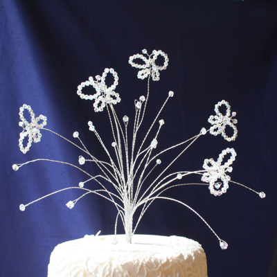 Cake Decorations Uk : Crystal Butterfly Cake Topper Crystal Butterfly Cake Topper