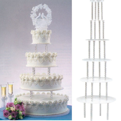 Crystal Clear Cake Divider Plates and Legs