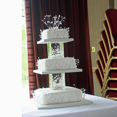 Three tier Cake Decorated with Sparkling Crystals