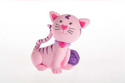 Claydough Cat Cake Topper
