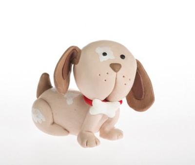 Claydough Dog Cake Topper