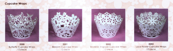 Range of Cupcake Wraps
