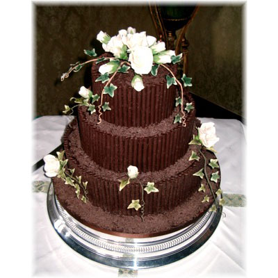 Dark Chocolate Pencil Wedding Cake