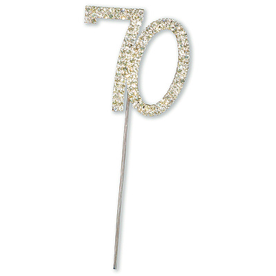 Diamante 70 Cake Topper
