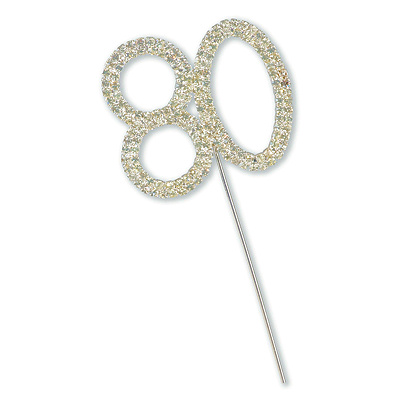 Diamante 80 Cake Topper