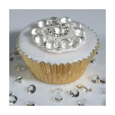 Cupcake decorated with edible diamonds