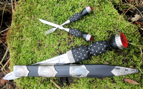 Scottish Dirk with Knife and Fork Set