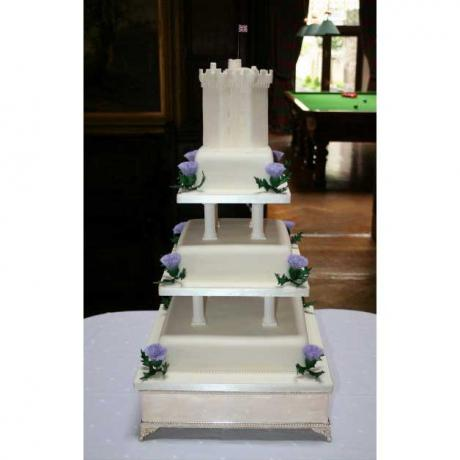 Dundas Castle Keep Wedding Cake Topper