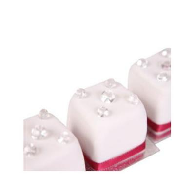 Mini Cakes Decorated with Edible Diamonds