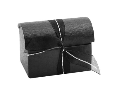 Black Silk Wedding Favours