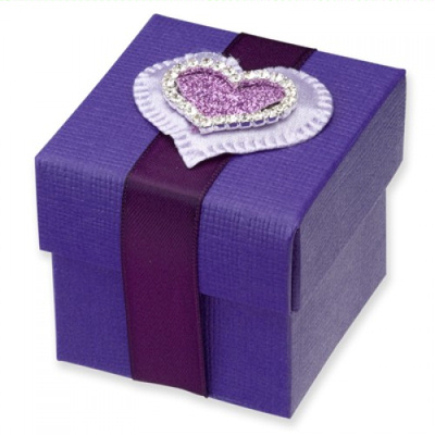 Purple Wedding Favour Boxes