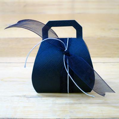 Black Silk Handbag Favour