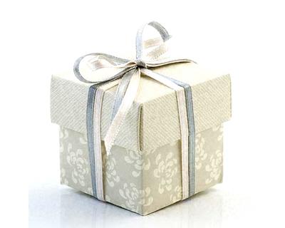 Vintage Pearl Grey Wedding Favour Boxes 10 Retro Style Wedding