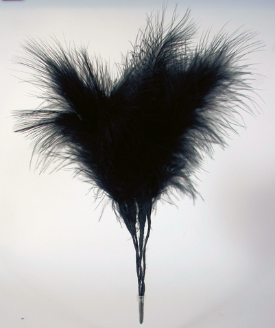 Black Feather Cake Decorations