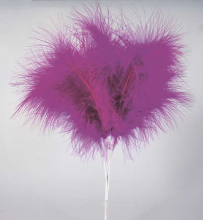 Purple Feather Cake Decorations