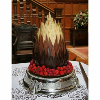Flame of Love Belgian Chocolate Wedidng Cake