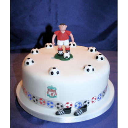 Superb Footy Birthday Cake Personalised Birthday Cards Paralily Jamesorg