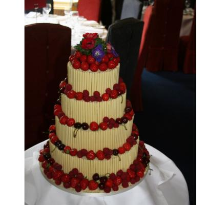 Four Tier Fruits of Summer Wedding Cake