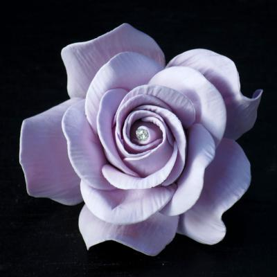 Giant Diamante Lilac Sugar Rose
