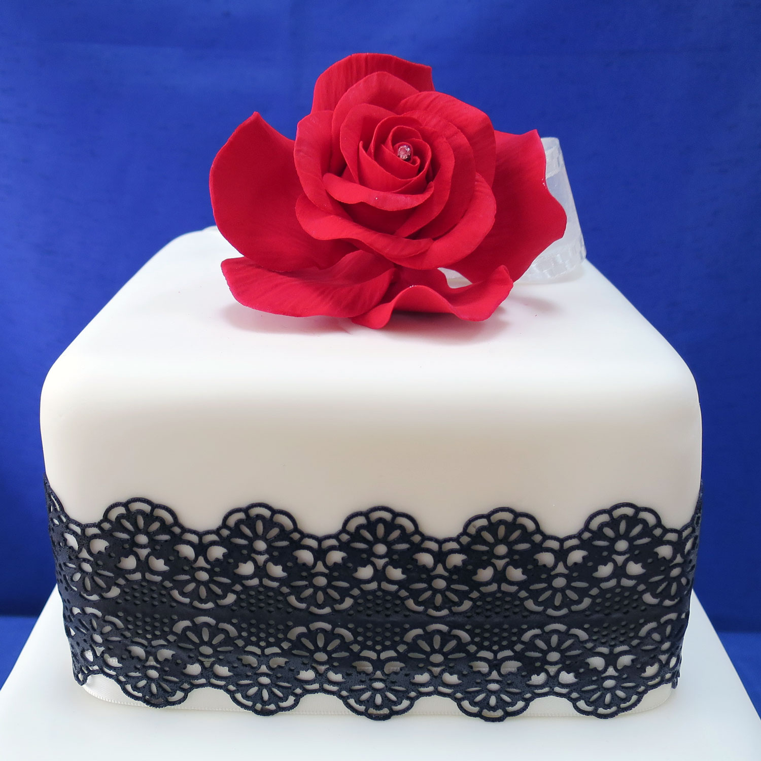 Black Lace Black Lace Wedding Cake
