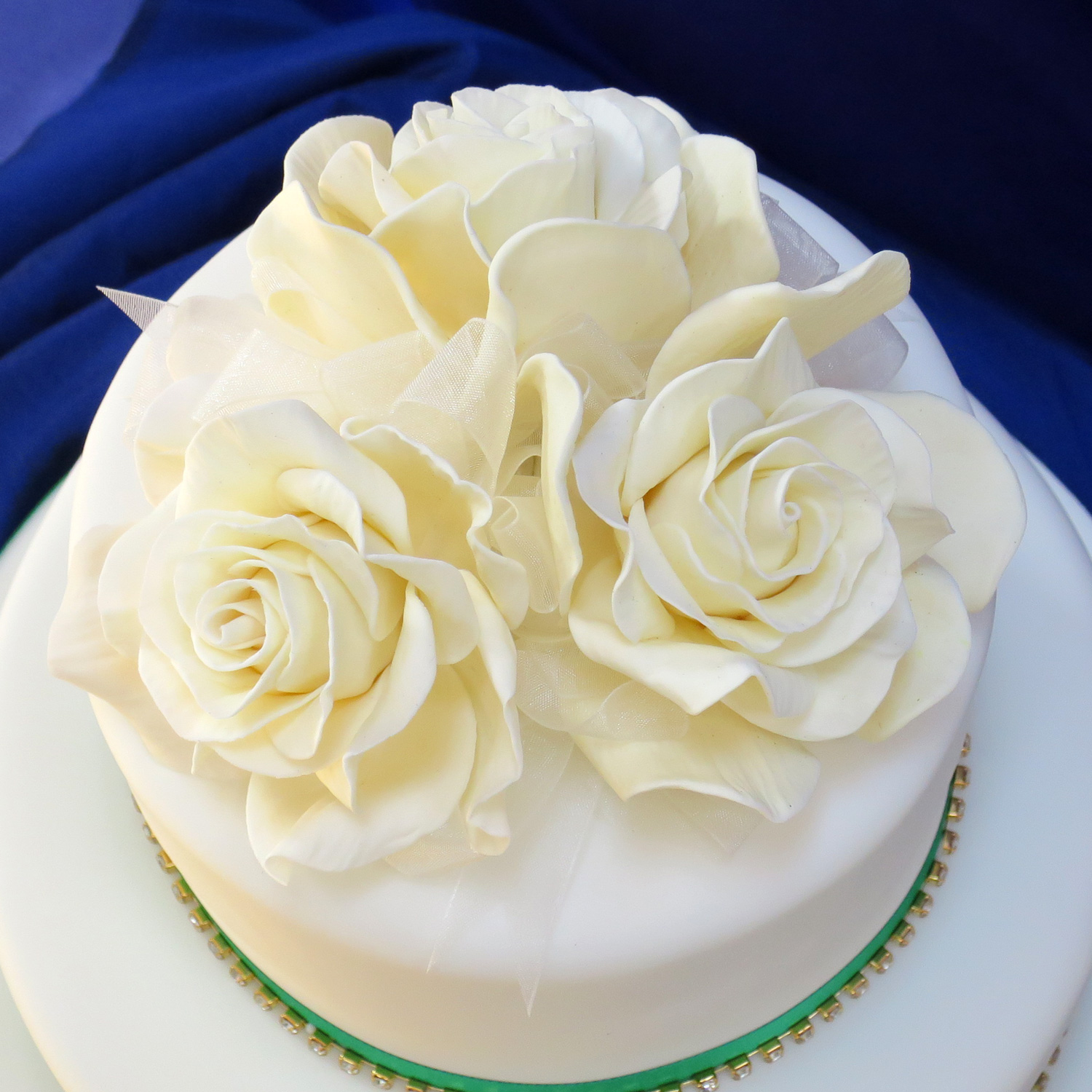 Giant Ivory Rose Cake Topper Hand crafted Sugar Rose Wedding Cake