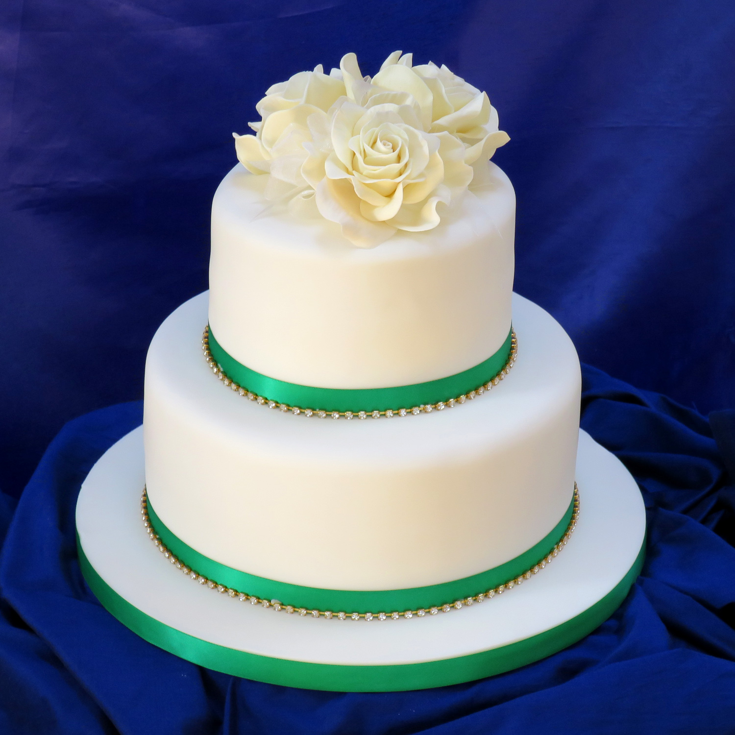 Giant Ivory Rose Cake Topper