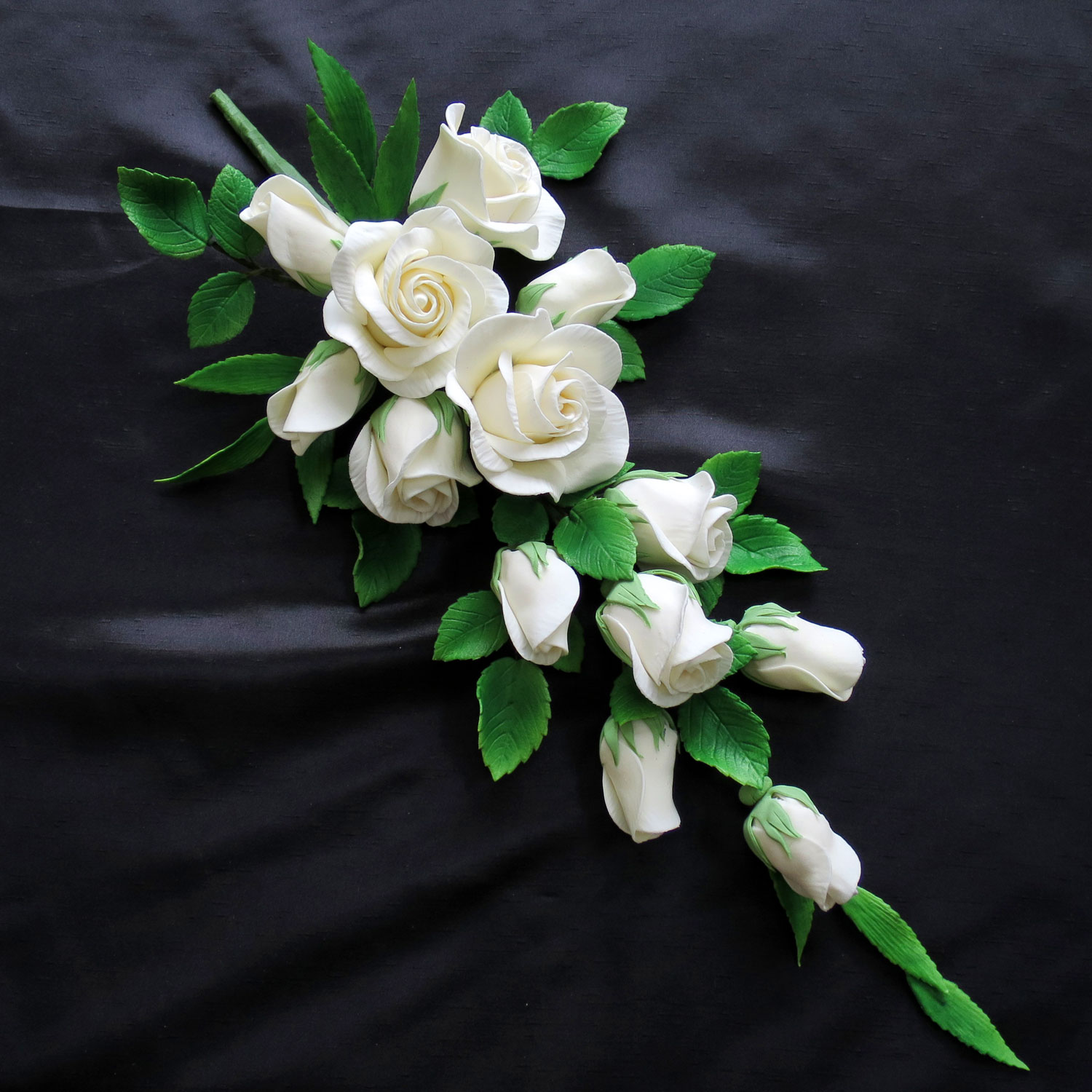 Giant Ivory Wedding Rose Spray